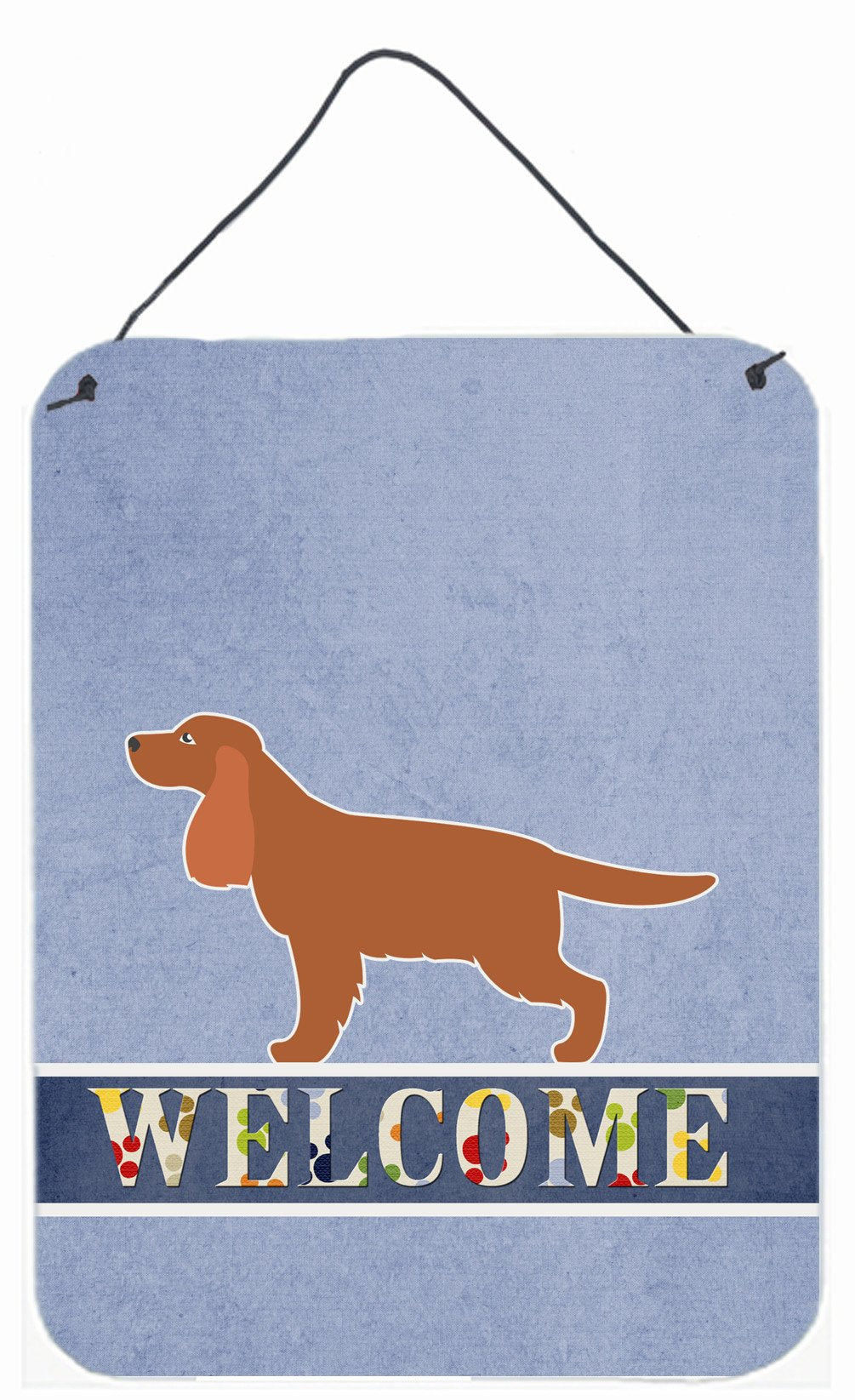 English Cocker Spaniel Welcome Wall or Door Hanging Prints BB5516DS1216 by Caroline's Treasures