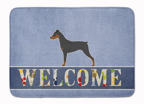 Buy this German Pinscher Welcome Machine Washable Memory Foam Mat BB5517RUG