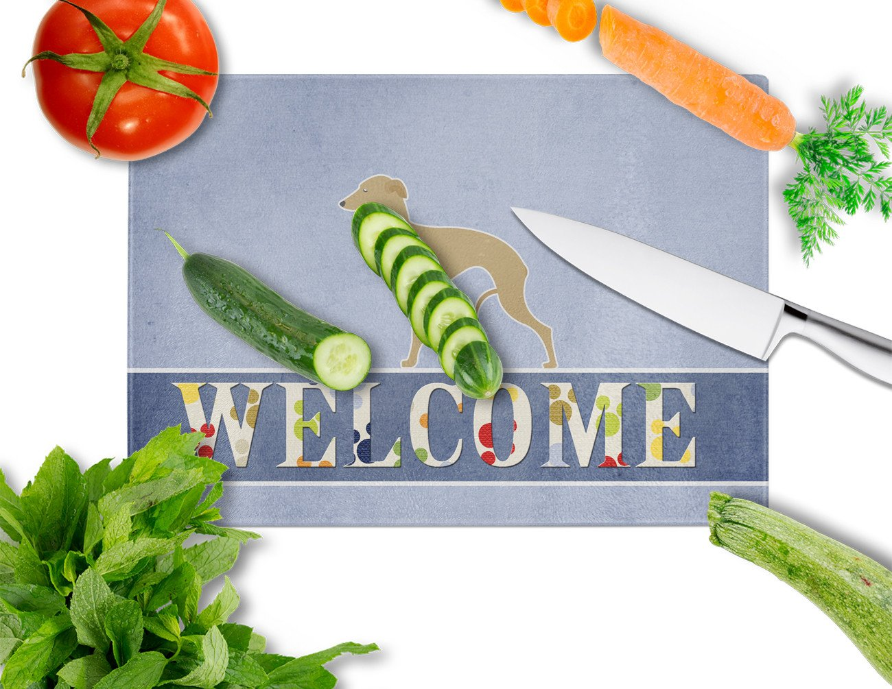 Italian Greyhound Welcome Glass Cutting Board Large BB5518LCB by Caroline's Treasures