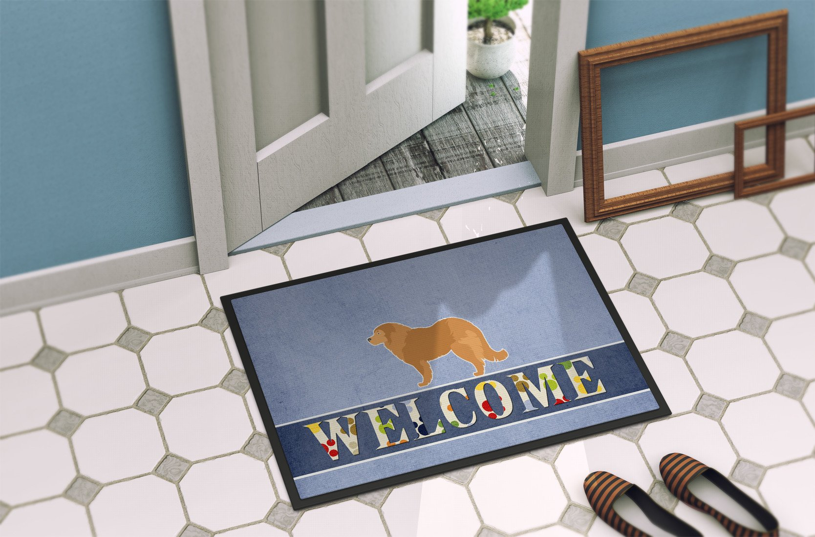 Caucasian Shepherd Dog Welcome Indoor or Outdoor Mat 24x36 BB5529JMAT by Caroline's Treasures