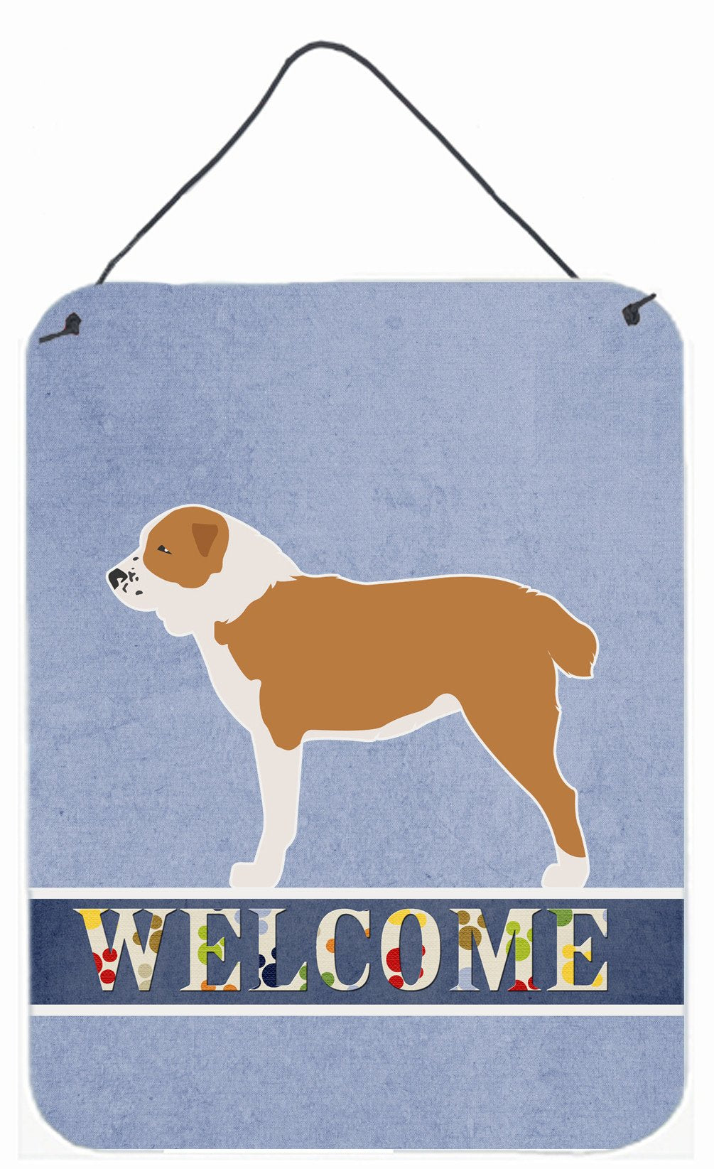 Central Asian Shepherd Dog Welcome Wall or Door Hanging Prints BB5532DS1216 by Caroline's Treasures