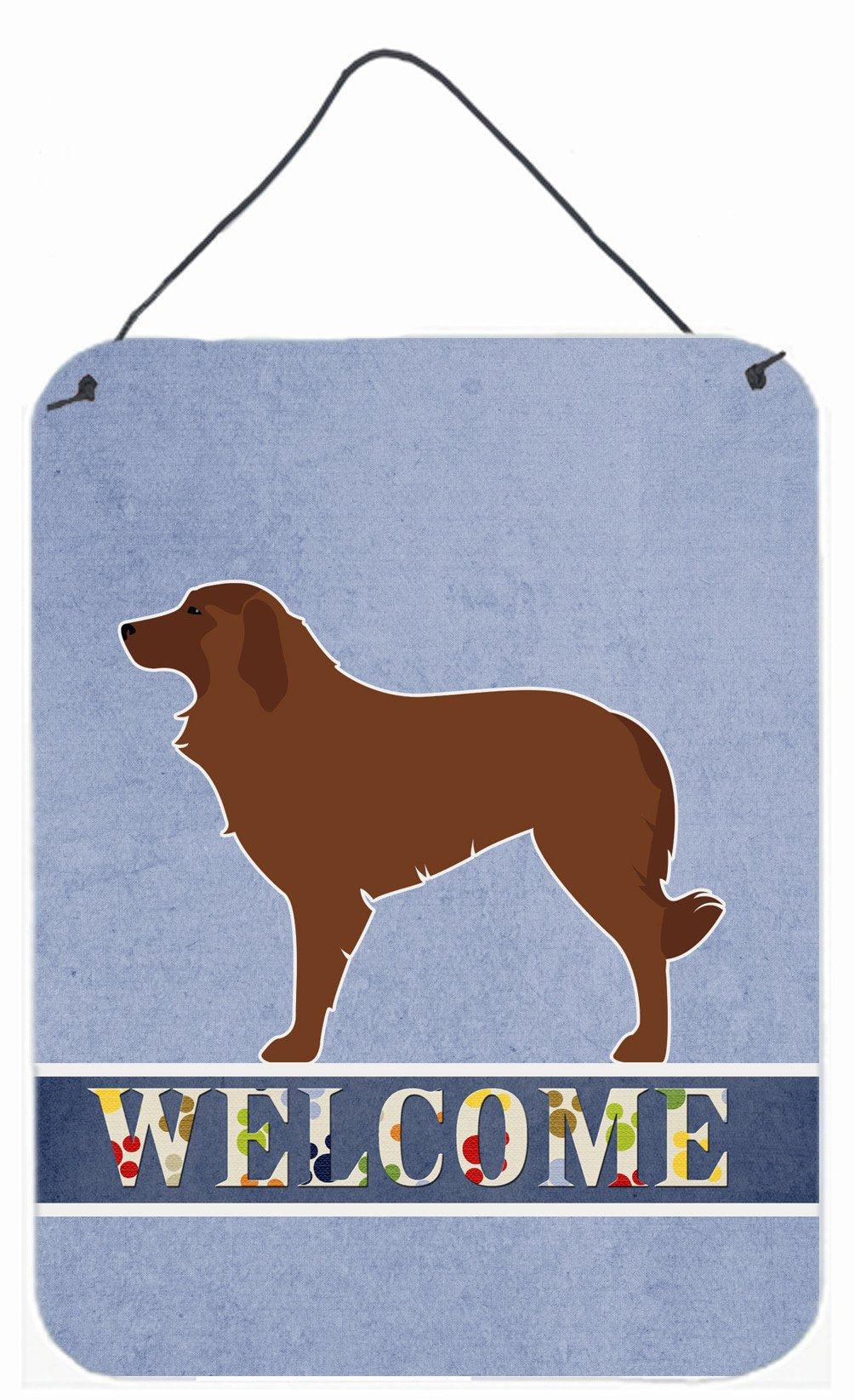 Portuguese Sheepdog Dog Welcome Wall or Door Hanging Prints BB5535DS1216 by Caroline's Treasures