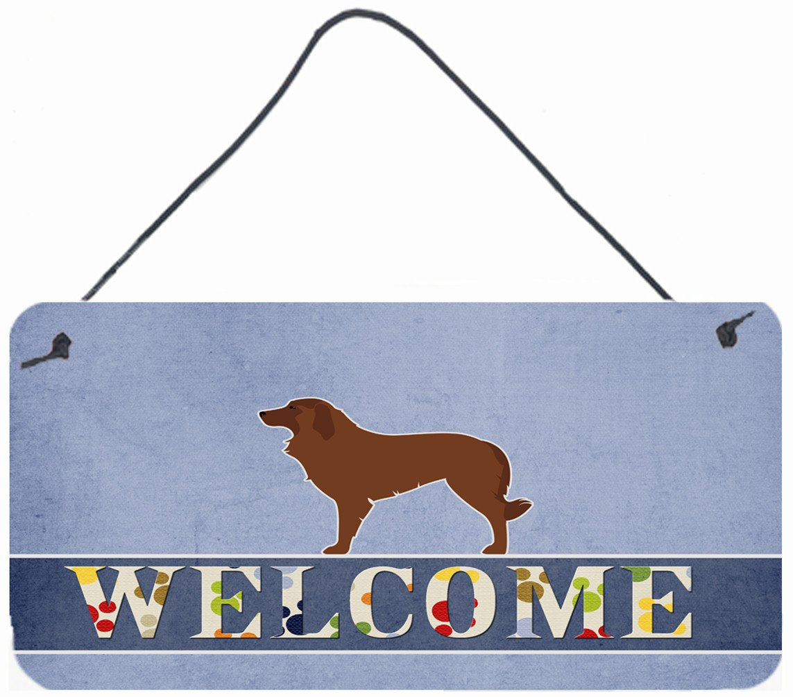 Portuguese Sheepdog Dog Welcome Wall or Door Hanging Prints BB5535DS812 by Caroline's Treasures