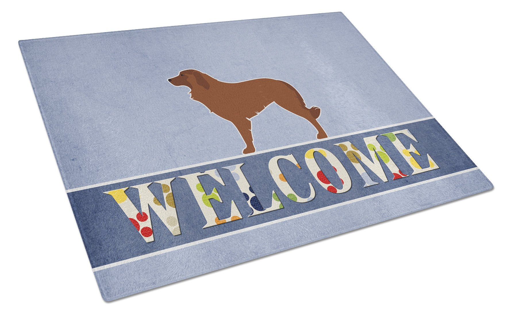 Portuguese Sheepdog Dog Welcome Glass Cutting Board Large BB5535LCB by Caroline's Treasures