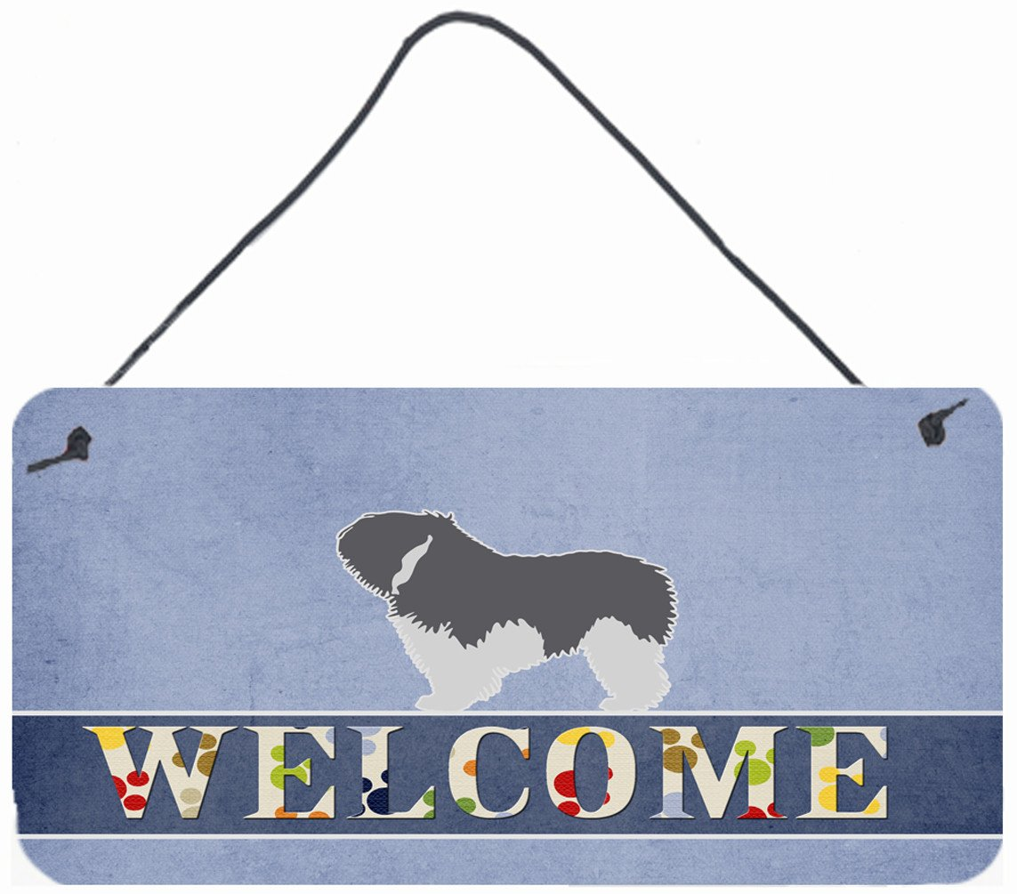 Polish Lowland Sheepdog Dog Welcome Wall or Door Hanging Prints BB5536DS812 by Caroline's Treasures