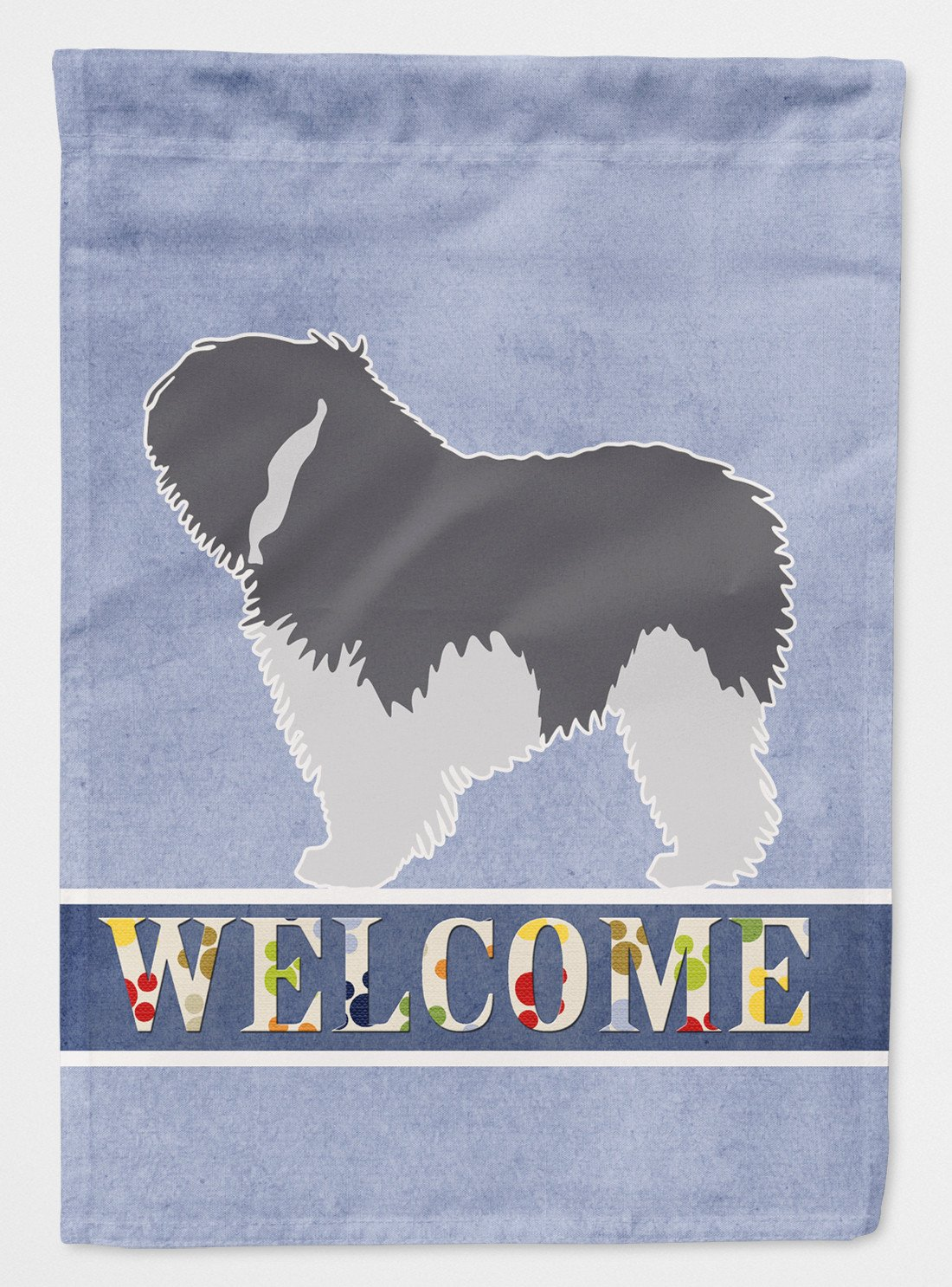 Polish Lowland Sheepdog Dog Welcome Flag Garden Size BB5536GF by Caroline's Treasures