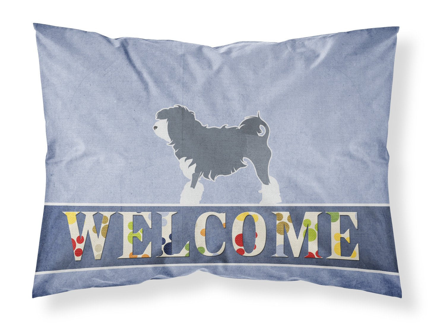 Lowchen Welcome Fabric Standard Pillowcase BB5539PILLOWCASE by Caroline's Treasures