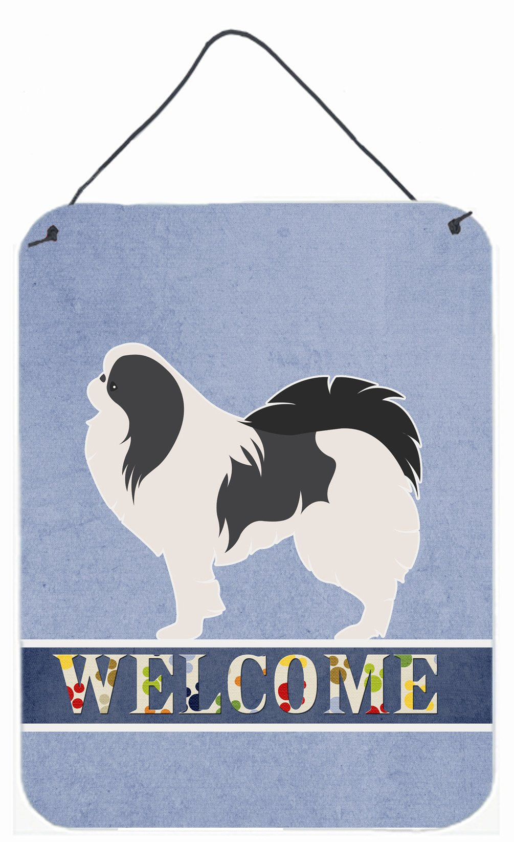 Japanese Chin Welcome Wall or Door Hanging Prints BB5541DS1216 by Caroline's Treasures