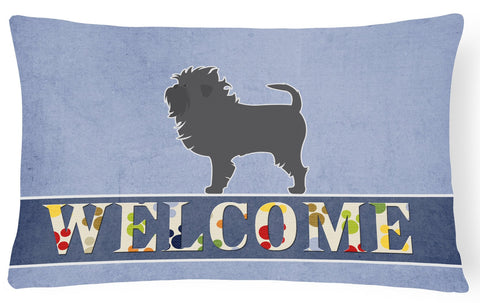 Buy this Affenpinscher Welcome Canvas Fabric Decorative Pillow BB5552PW1216