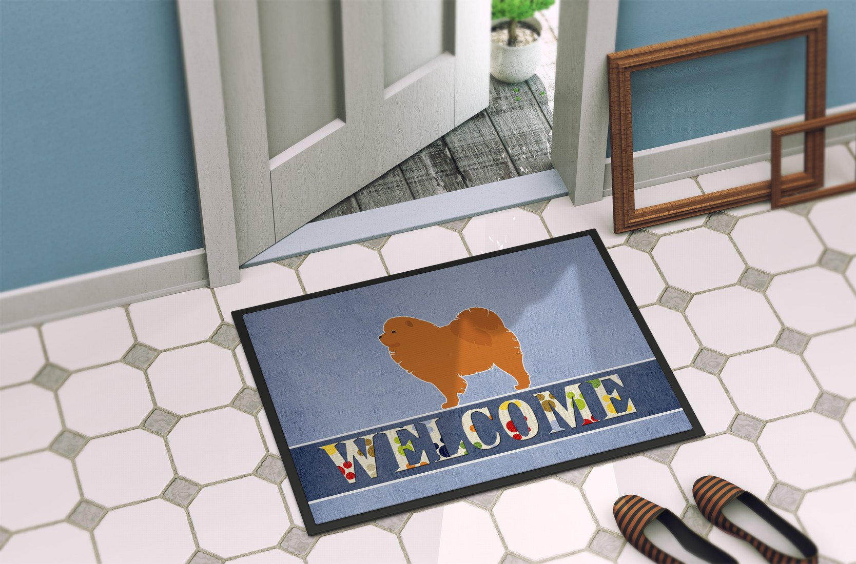 Chow Chow Welcome Indoor or Outdoor Mat 24x36 BB5555JMAT by Caroline's Treasures