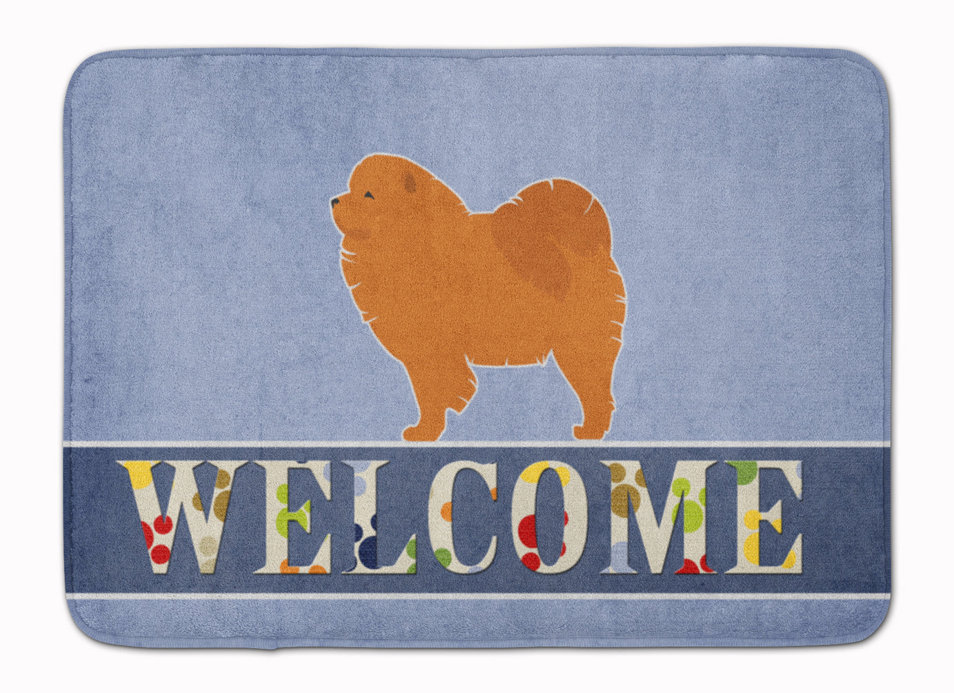 Chow Chow Welcome Machine Washable Memory Foam Mat BB5555RUG by Caroline's Treasures