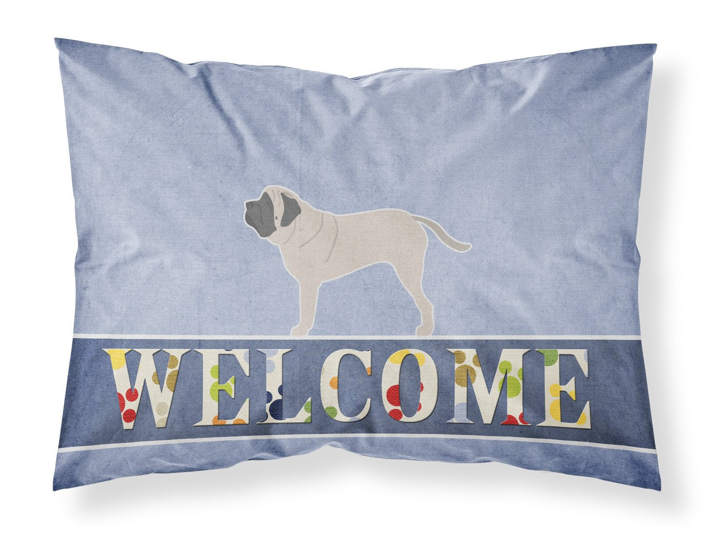 English Mastiff Welcome Fabric Standard Pillowcase BB5560PILLOWCASE by Caroline's Treasures