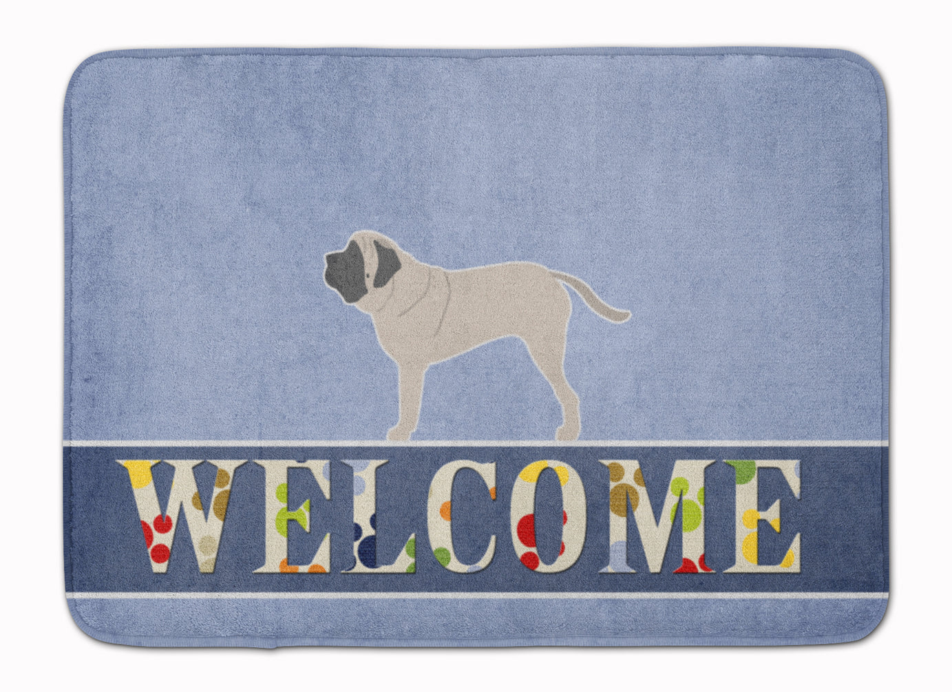 English Mastiff Welcome Machine Washable Memory Foam Mat BB5560RUG by Caroline's Treasures
