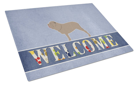 Buy this Neapolitan Mastiff Welcome Glass Cutting Board Large BB5569LCB