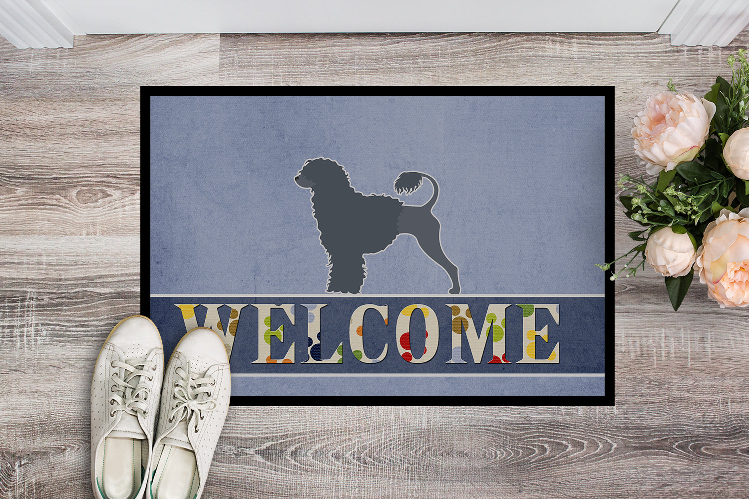 Buy this Portuguese Water Dog Welcome Indoor or Outdoor Mat 18x27 BB5572MAT