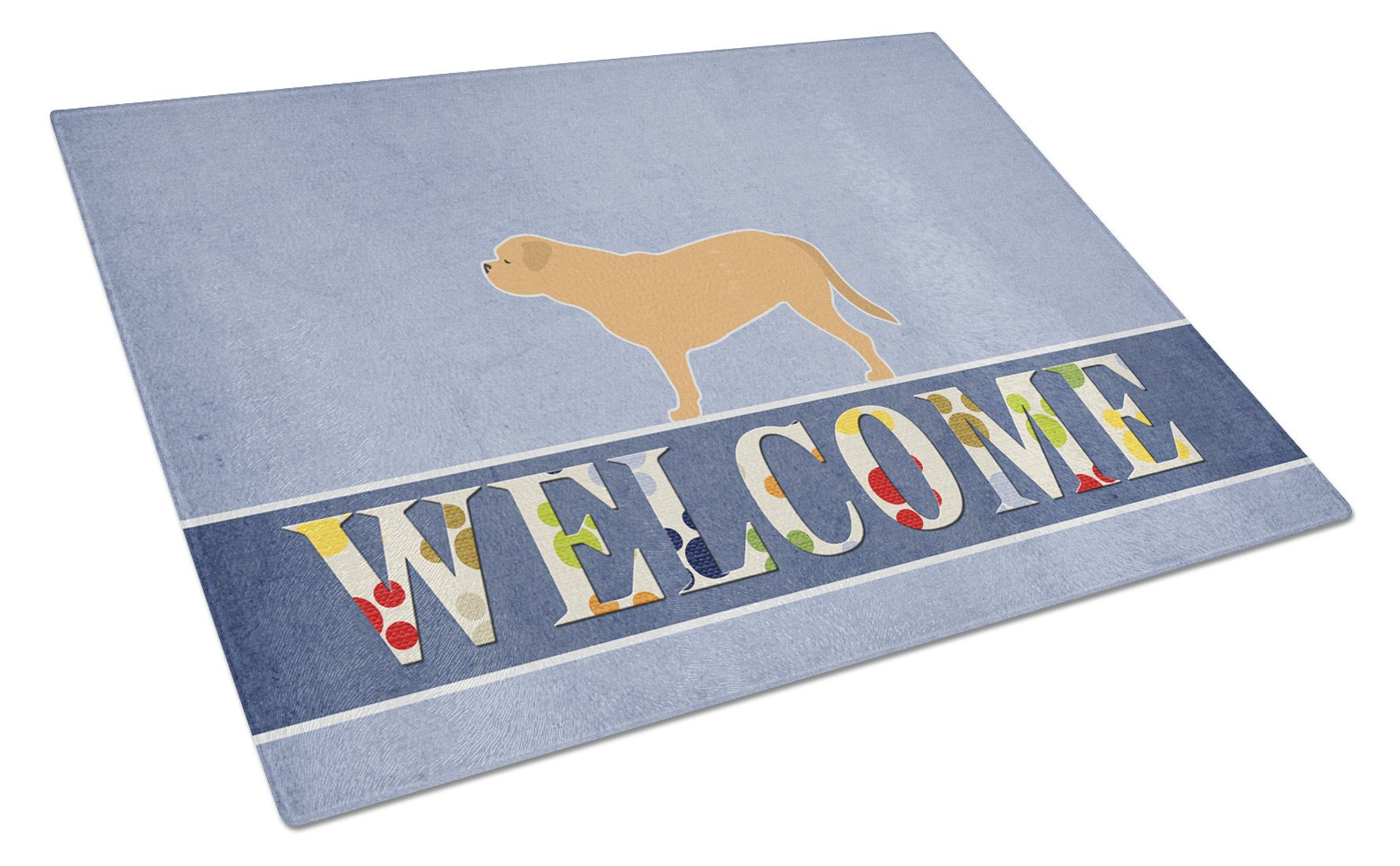 Buy this Dogue de Bordeaux Welcome Glass Cutting Board Large BB5574LCB
