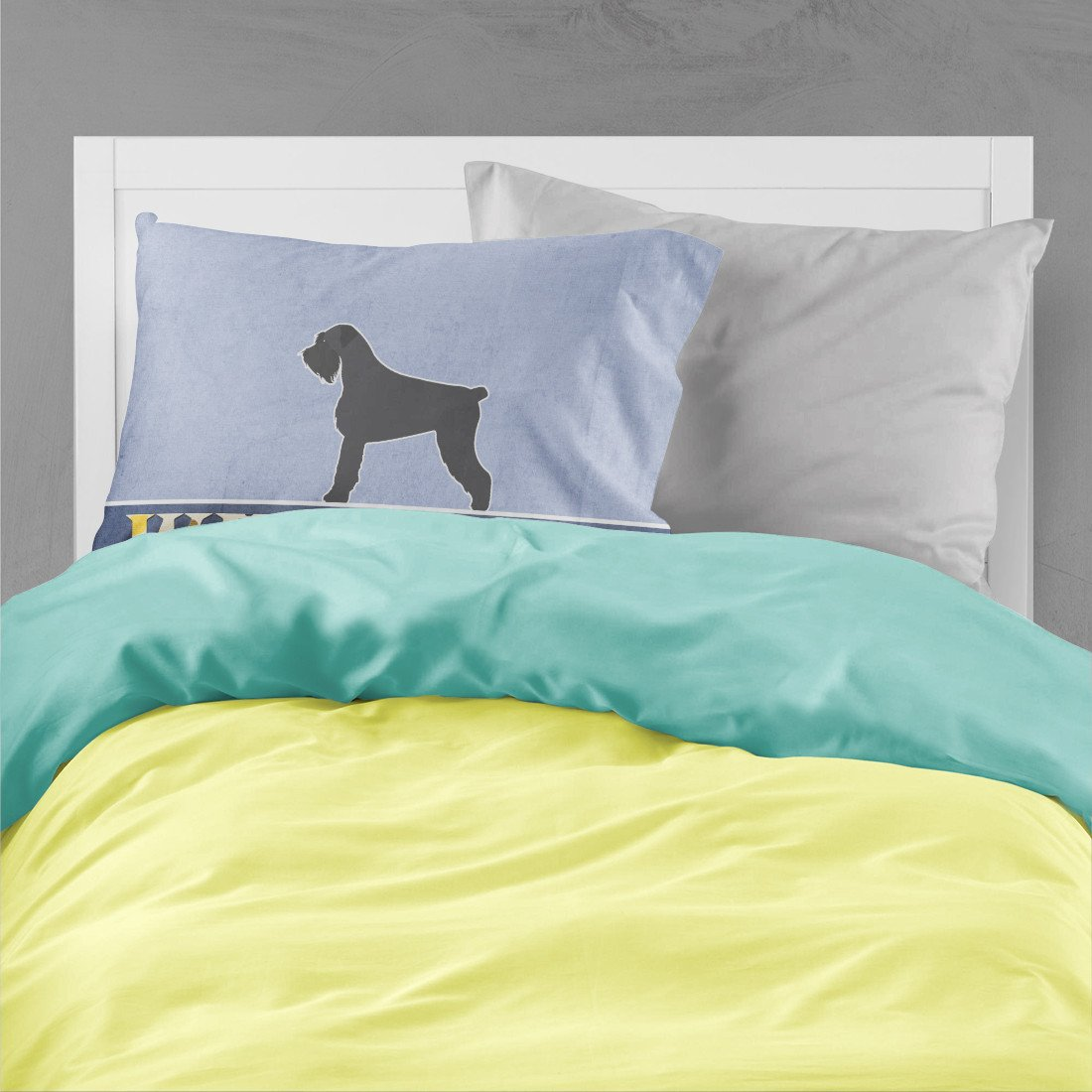 Giant Schnauzer Welcome Fabric Standard Pillowcase BB5577PILLOWCASE by Caroline's Treasures