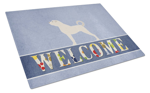 Buy this Anatolian Shepherd Welcome Glass Cutting Board Large BB5581LCB