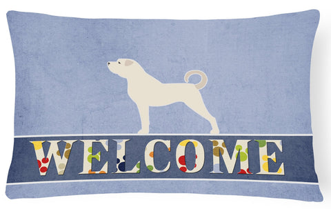 Buy this Anatolian Shepherd Welcome Canvas Fabric Decorative Pillow BB5581PW1216