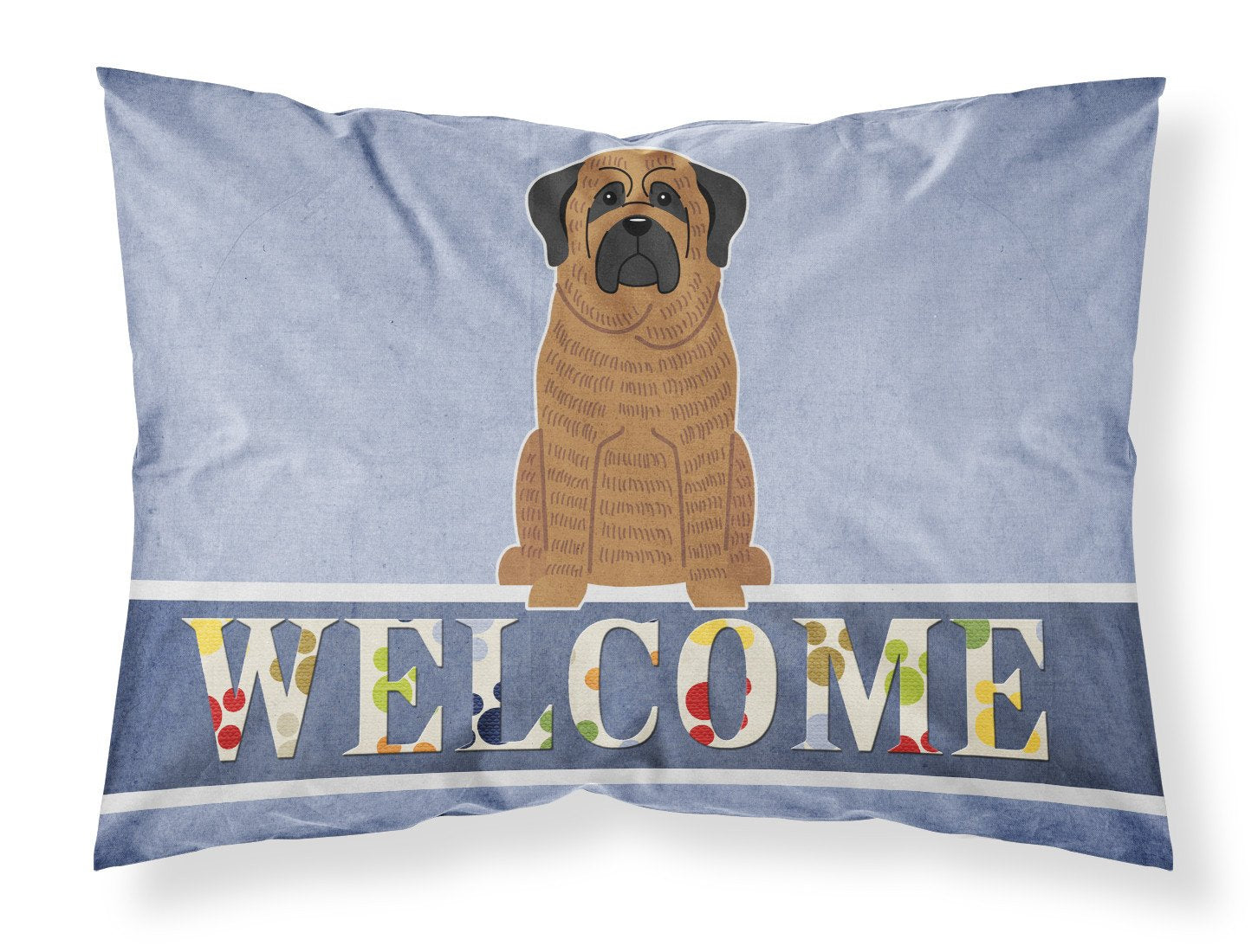 Mastiff Brindle Welcome Fabric Standard Pillowcase BB5596PILLOWCASE by Caroline's Treasures