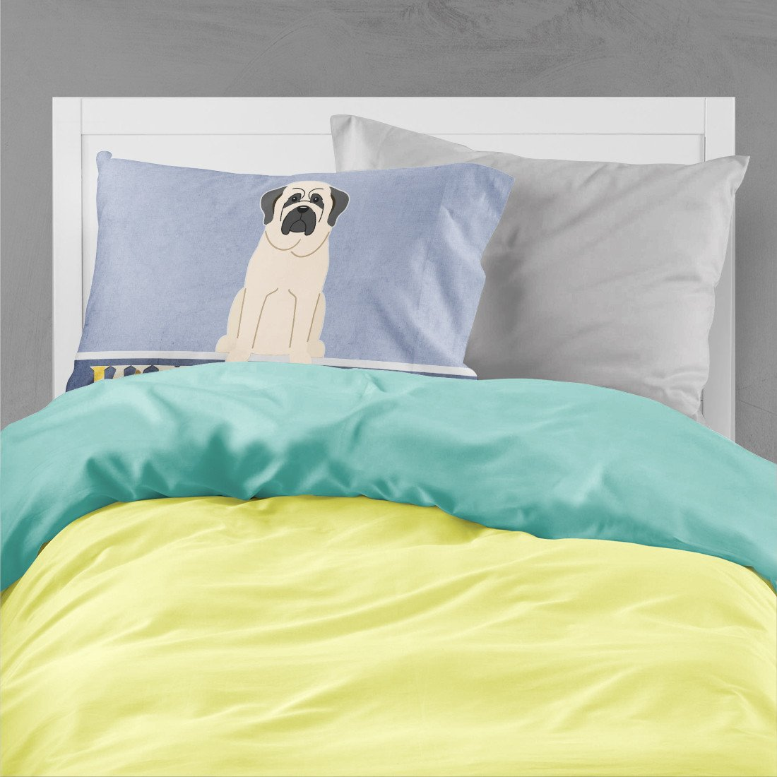 Mastiff White Welcome Fabric Standard Pillowcase BB5598PILLOWCASE by Caroline's Treasures