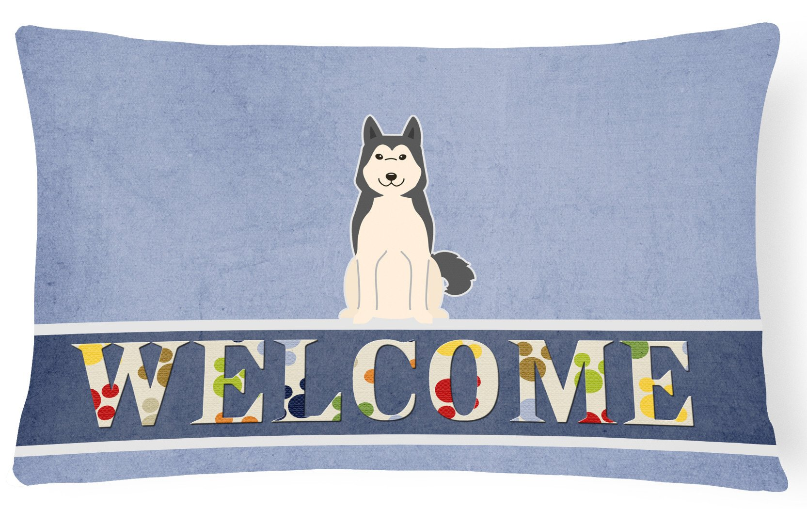 West Siberian Laika Spitz Welcome Canvas Fabric Decorative Pillow BB5606PW1216 by Caroline's Treasures