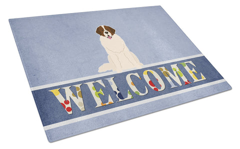 Buy this Moscow Watchdog Welcome Glass Cutting Board Large BB5608LCB