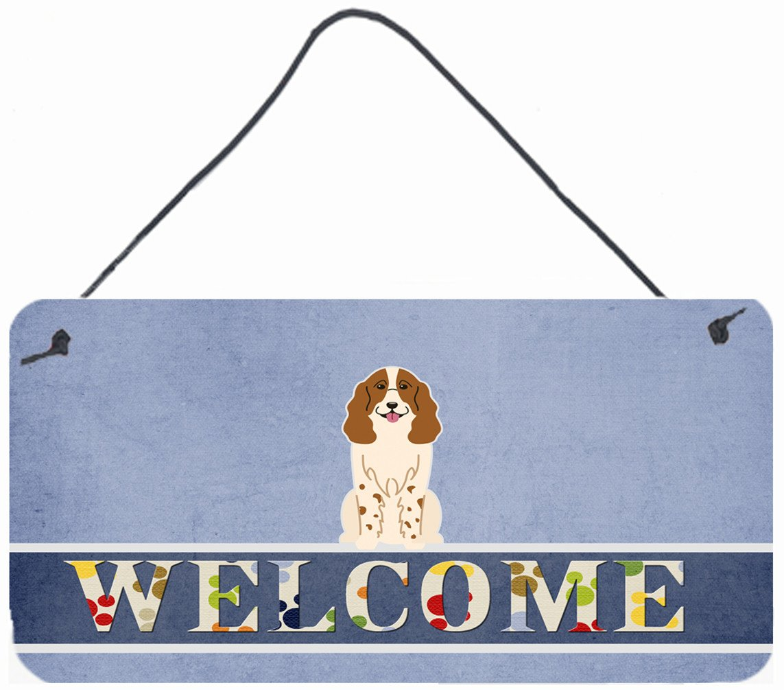 Russian Spaniel Welcome Wall or Door Hanging Prints BB5612DS812 by Caroline's Treasures
