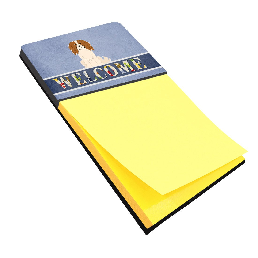 Cavalier Spaniel Welcome Sticky Note Holder BB5639SN by Caroline's Treasures