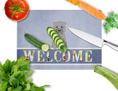 Glen of Imal Grey Welcome Glass Cutting Board Large BB5640LCB