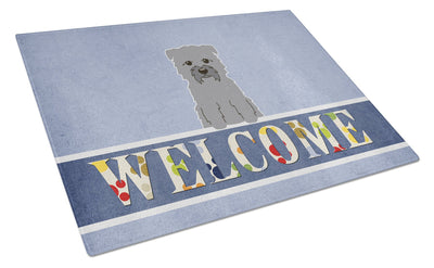 Buy this Glen of Imal Grey Welcome Glass Cutting Board Large BB5640LCB
