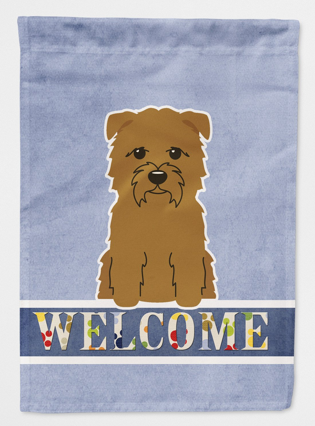 Buy this Glen of Imal Tan Welcome Flag Garden Size BB5641GF