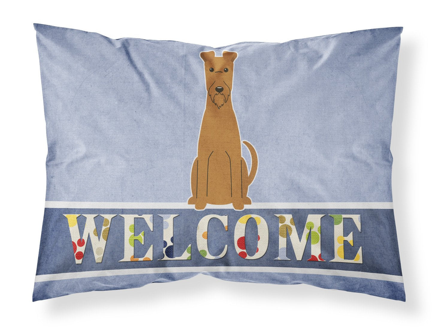 Irish Terrier Welcome Fabric Standard Pillowcase BB5643PILLOWCASE by Caroline's Treasures