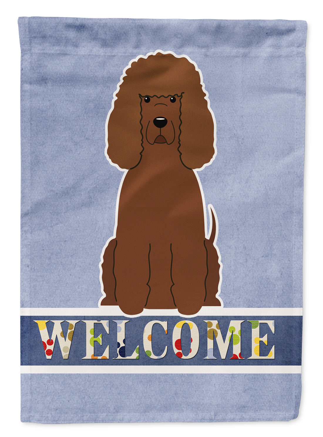 Irish Water Spaniel Welcome Flag Canvas House Size BB5644CHF by Caroline's Treasures