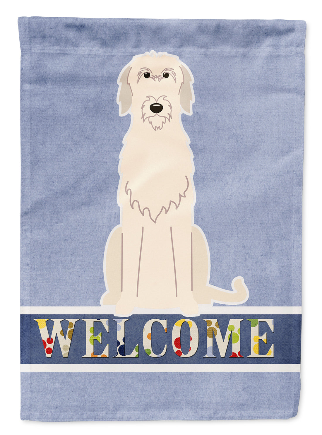 Irish Wolfhound Welcome Flag Canvas House Size BB5646CHF by Caroline's Treasures