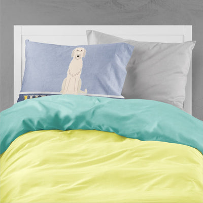 Irish Wolfhound Welcome Fabric Standard Pillowcase BB5646PILLOWCASE