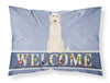 Buy this Irish Wolfhound Welcome Fabric Standard Pillowcase BB5646PILLOWCASE