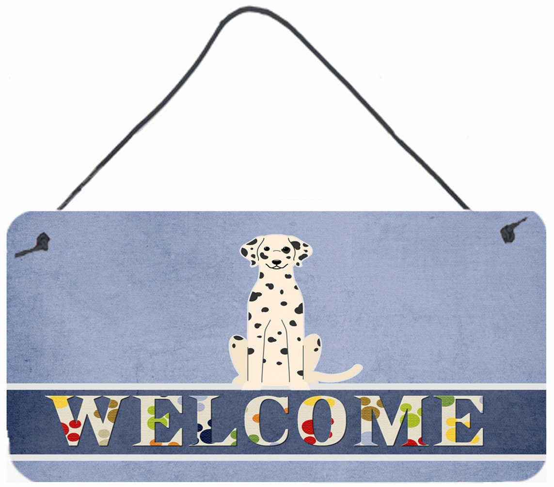 Dalmatian Welcome Wall or Door Hanging Prints BB5678DS812 by Caroline's Treasures