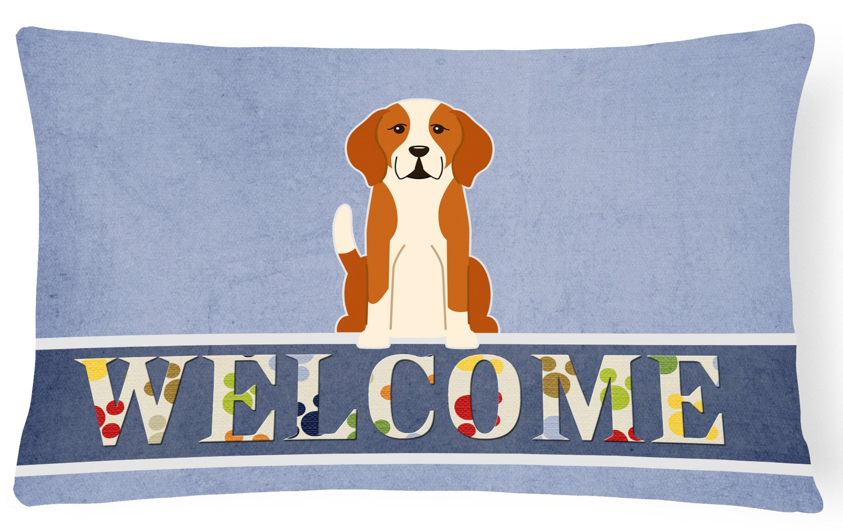 English Foxhound Welcome Canvas Fabric Decorative Pillow BB5691PW1216 by Caroline's Treasures