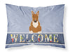 Buy this Bull Terrier Red Welcome Fabric Standard Pillowcase BB5715PILLOWCASE