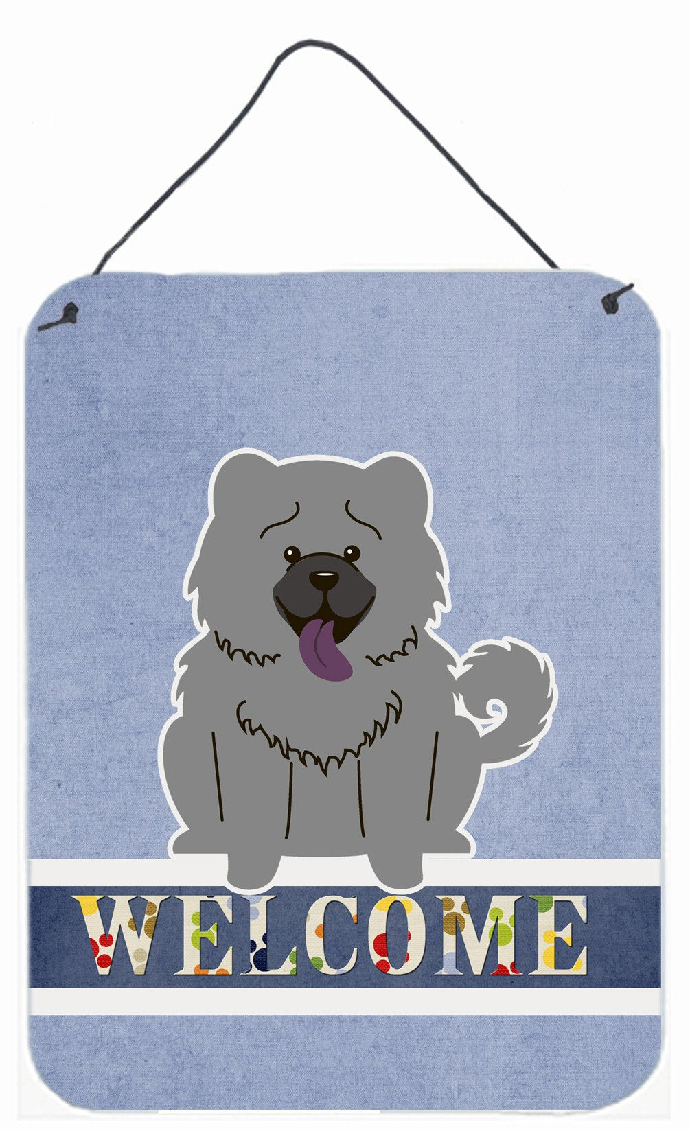 Chow Chow Blue Welcome Wall or Door Hanging Prints BB5720DS1216 by Caroline's Treasures