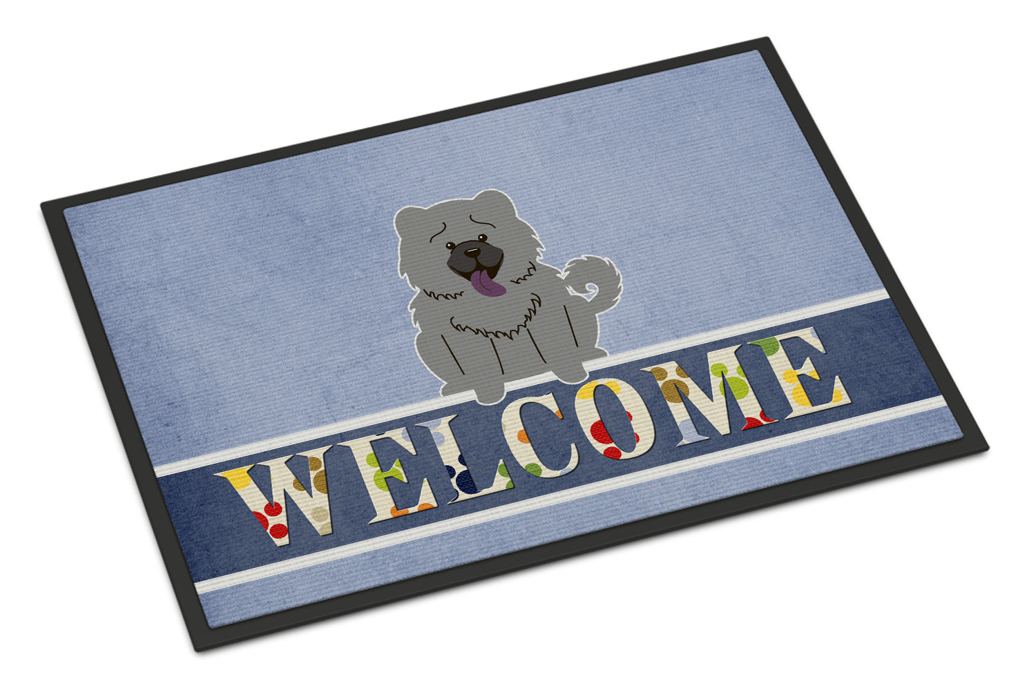 Chow Chow Blue Welcome Indoor or Outdoor Mat 18x27 BB5720MAT by Caroline's Treasures