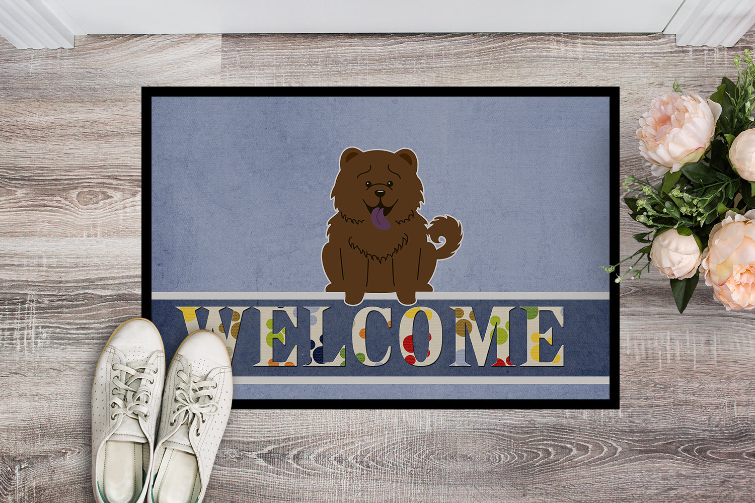 Chow Chow Chocolate Welcome Indoor or Outdoor Mat 18x27 BB5722MAT by Caroline's Treasures