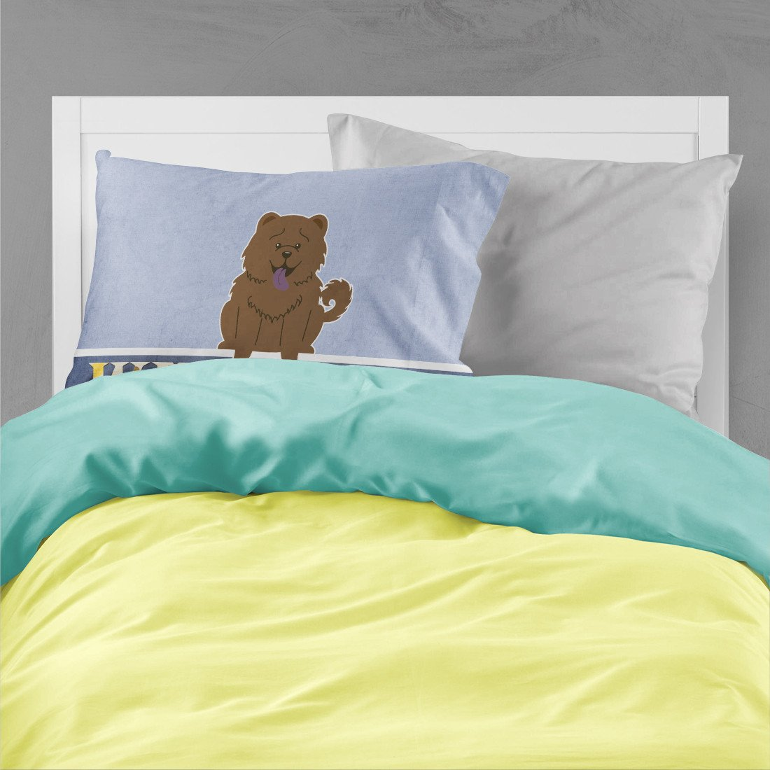 Chow Chow Chocolate Welcome Fabric Standard Pillowcase BB5722PILLOWCASE by Caroline's Treasures