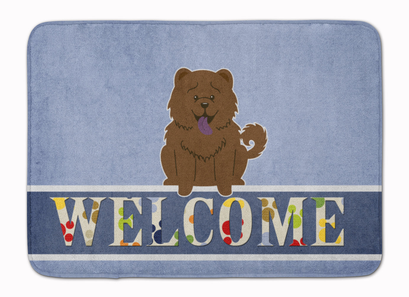 Chow Chow Chocolate Welcome Machine Washable Memory Foam Mat BB5722RUG by Caroline's Treasures