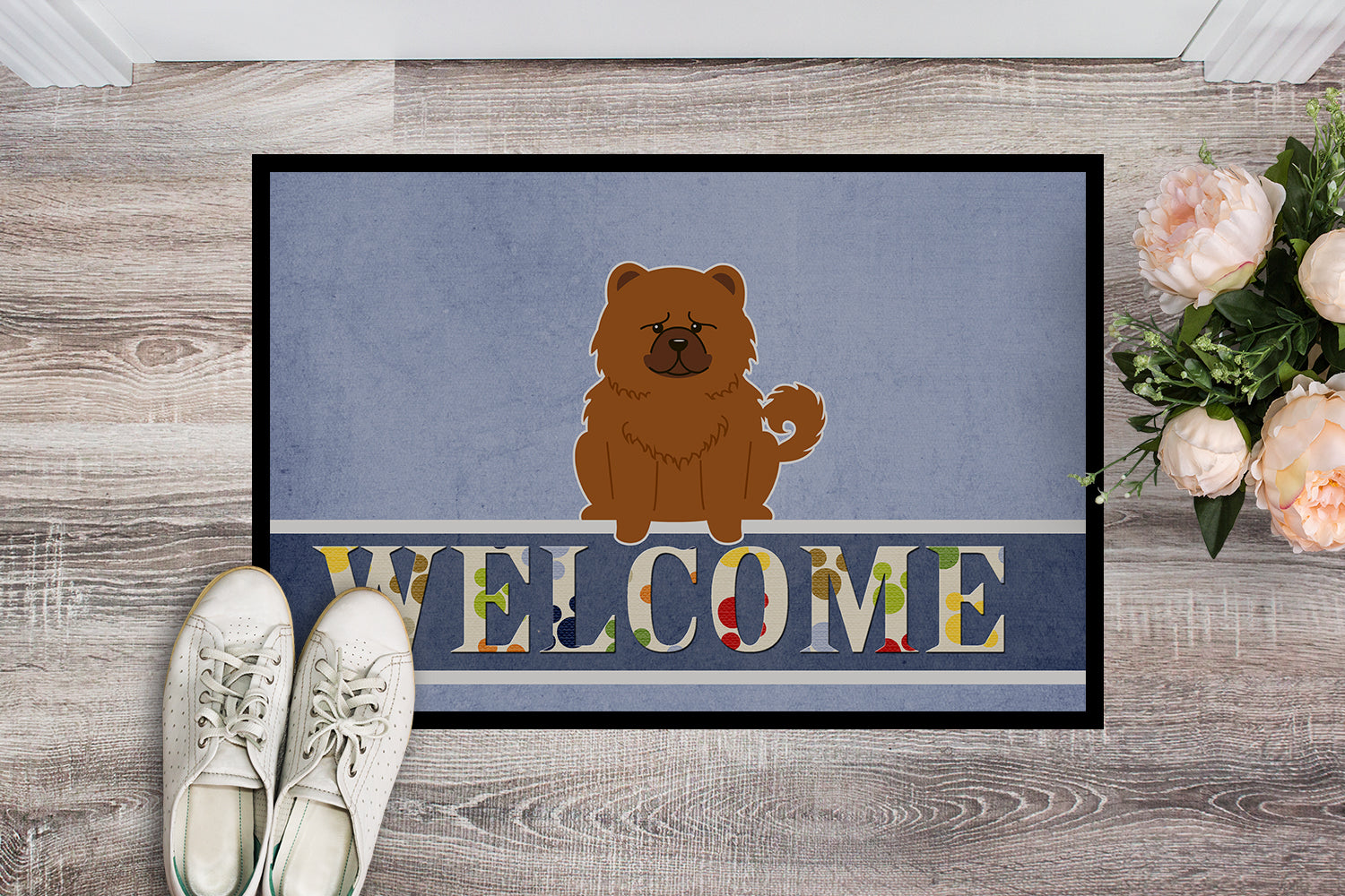 Chow Chow Red Welcome Indoor or Outdoor Mat 18x27 BB5723MAT by Caroline's Treasures