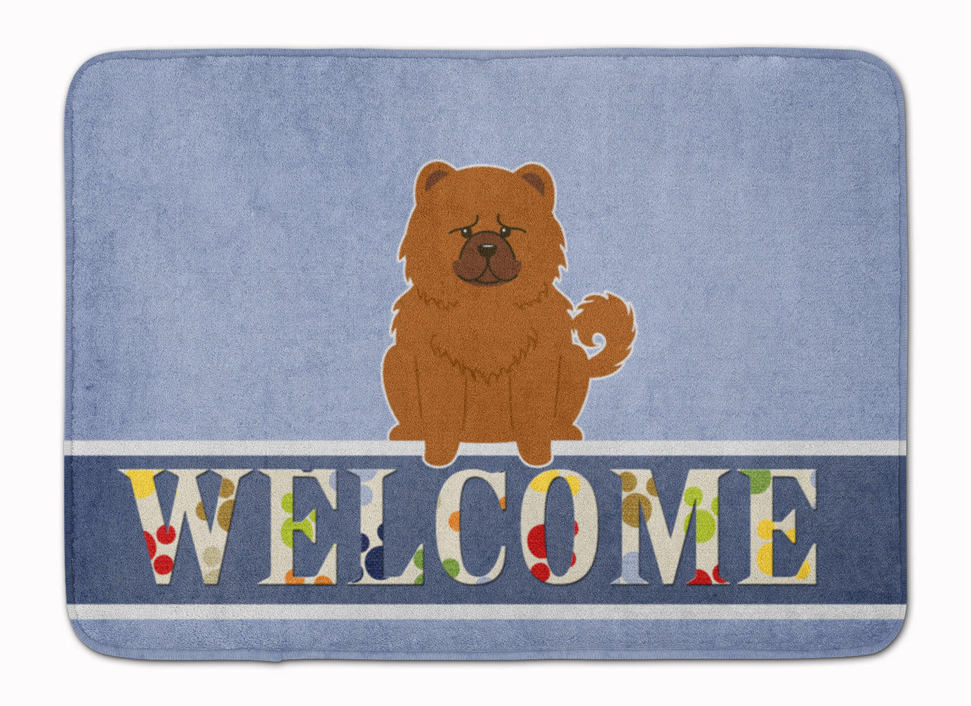 Chow Chow Red Welcome Machine Washable Memory Foam Mat BB5723RUG by Caroline's Treasures
