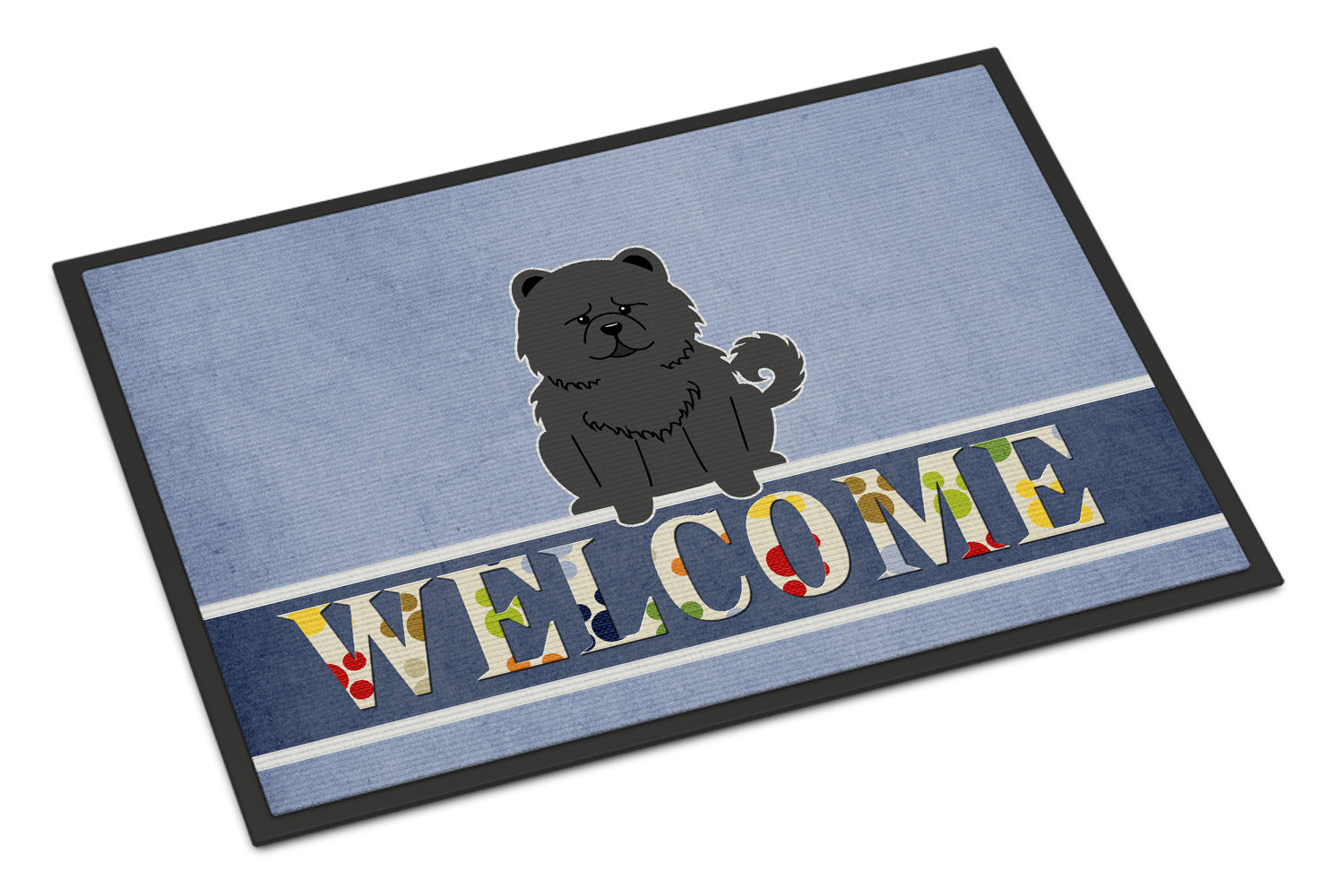 Chow Chow Black Welcome Indoor or Outdoor Mat 18x27 BB5724MAT by Caroline's Treasures
