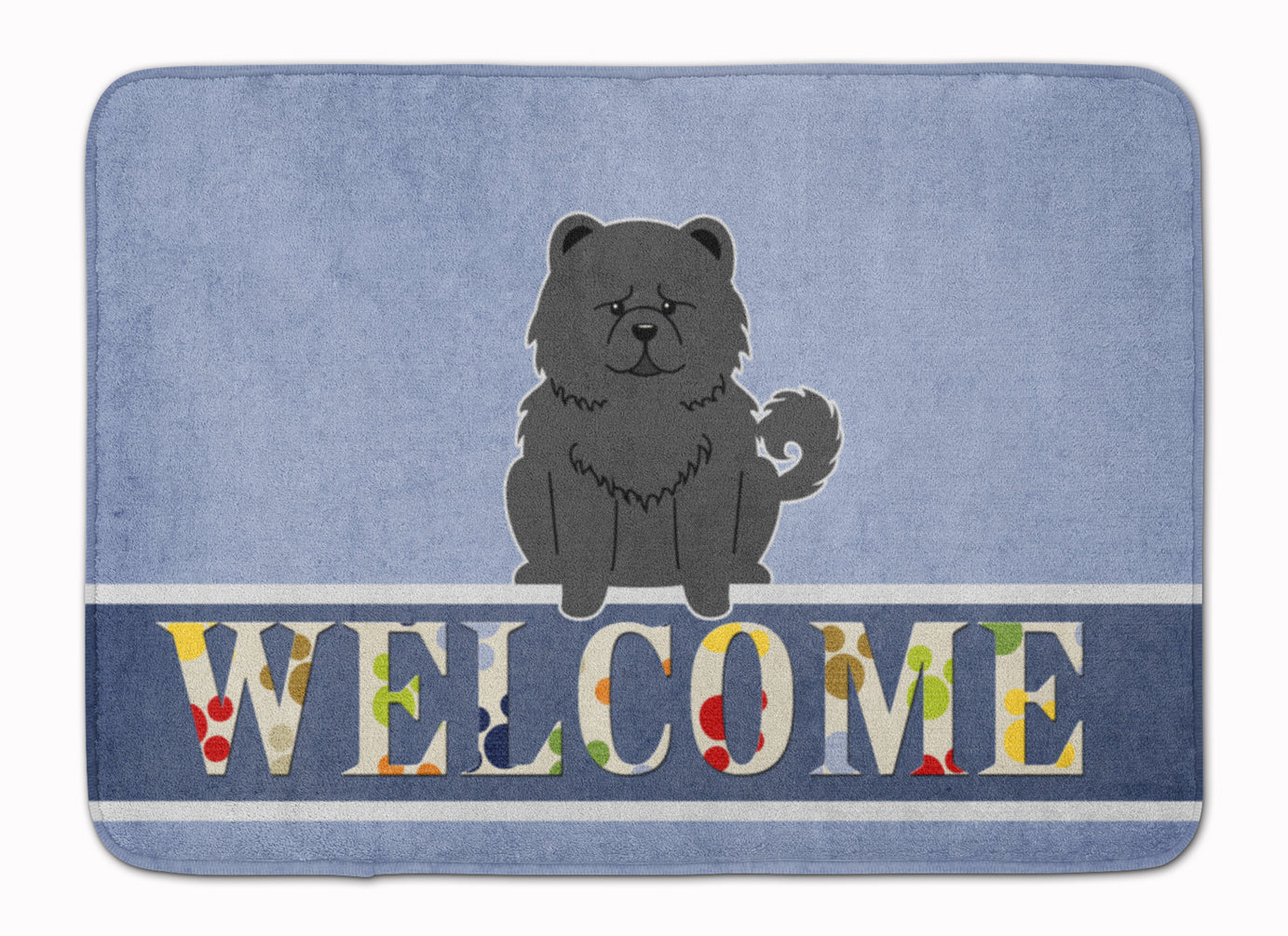 Chow Chow Black Welcome Machine Washable Memory Foam Mat BB5724RUG by Caroline's Treasures