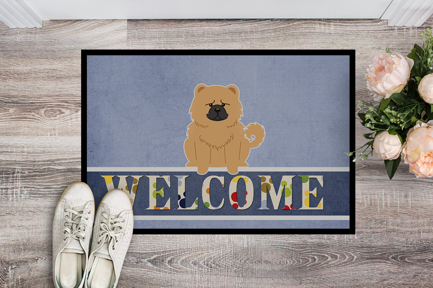 Chow Chow Cream Welcome Indoor or Outdoor Mat 18x27 BB5725MAT by Caroline's Treasures